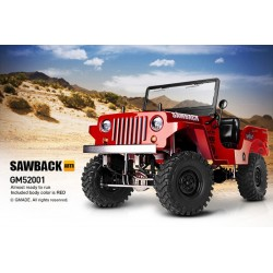 GMADE 1/10 GS01 SAWBACK 4WD ARTR SCALE CRAWLER - RED