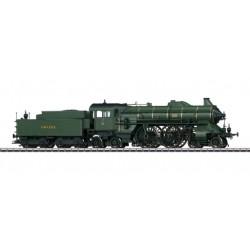 37015 Locomotive à vapeur avec tender séparé pour trains rapides.