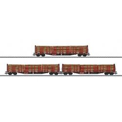 47047 Trois wagons à ranchers Roos 639