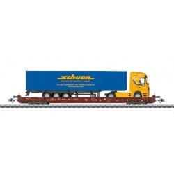 """Marklin 47426 Wagon à plate-forme surbaissée Saadkms 690 """"Route roulante"""""""
